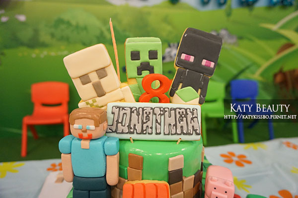 皓少的八歲生日會。Minecraft Birthday Party