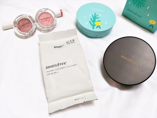 ♥ innisfree ↬  金屬氣墊粉餅殼 & Skinny cover fit cushion & 眼影唇彩