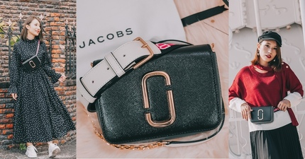 開箱穿搭|MARC JACOBS LOGO STRAP HIP SHOT BAG 腰包肩背包 一包多用途 高CP值超人氣MJ包