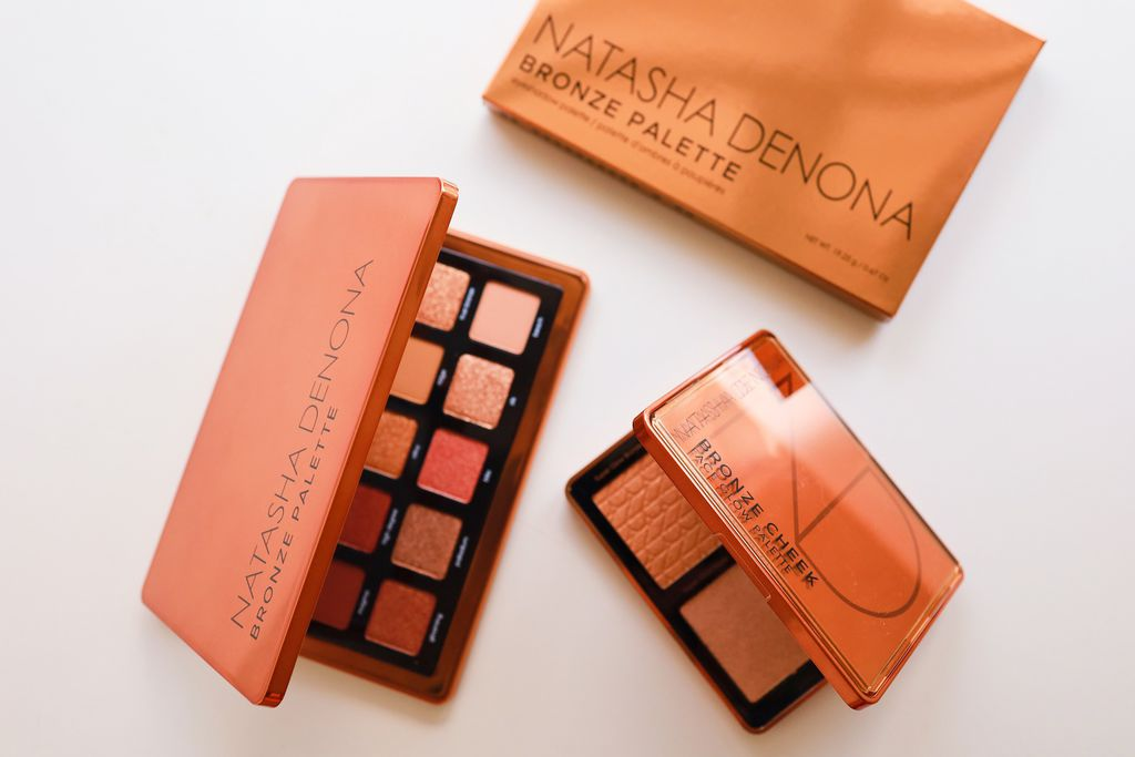 【彩妝】Natasha Denona Bronze 銅色眼影盤 打亮修容盤 試色分享 Bronze Eyeshadow Palette Bronze Cheek Face Glow Palette